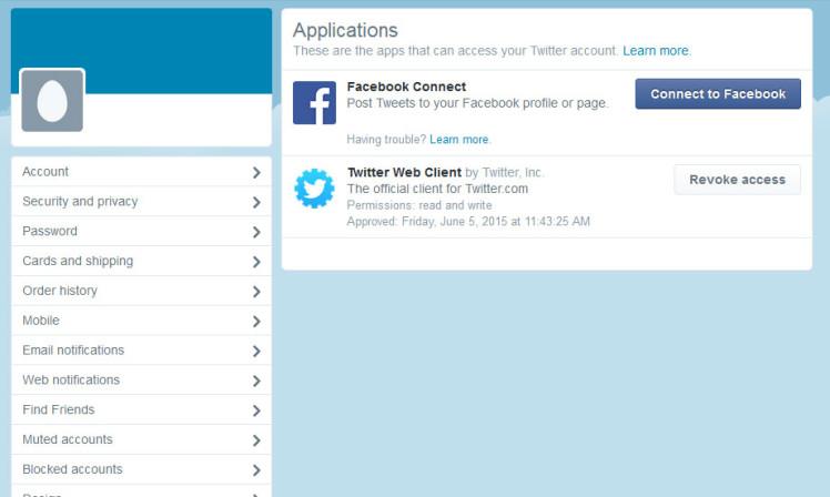 stalklayanlar uygulamasına izin vermeden önce twitter uygulamalar sayfası